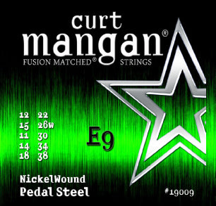 Curt Mangan E9 Pedal Steel Nickel Wound Set Electric Guitar Strings - Dynamic Music Distribution