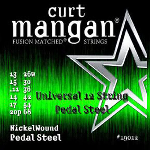 Curt Mangan 12-String Universal Pedal Steel Nickel Wound Set - Dynamic Music Distribution
