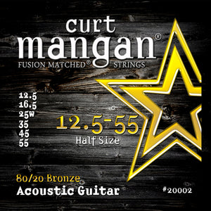 Curt Mangan 12.5-55 80/20 Bronze Set (Acoustic Guitar) - Dynamic Music Distribution