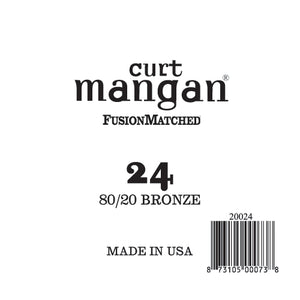 Curt Mangan 24 80/20 Bronze Single String - Dynamic Music Distribution