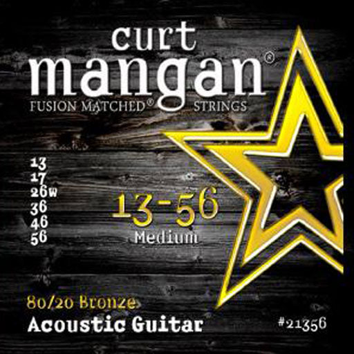 Curt Mangan 13-56 80/20 Bronze Medium Acoustic Guitar Strings - Dynamic Music Distribution