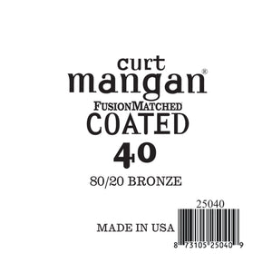 Curt Mangan 40 80/20 Bronze COATED Single String