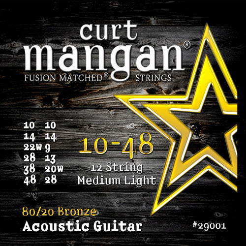 Curt Mangan 10-48 12-String 80/20 Bronze Acoustic Guitar Strings - Dynamic Music Distribution
