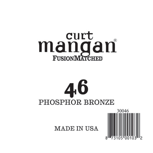 Curt Mangan 46 PhosPhor Bronze Single String - Dynamic Music Distribution