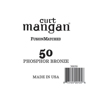 Curt Mangan 50 PhosPhor Bronze Single String - Dynamic Music Distribution