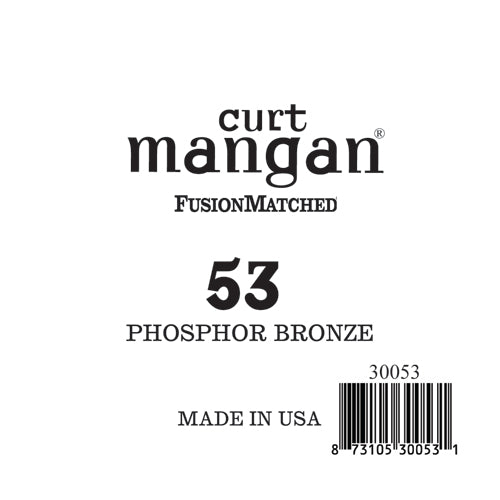 Curt Mangan 53 PhosPhor Bronze Single String - Dynamic Music Distribution
