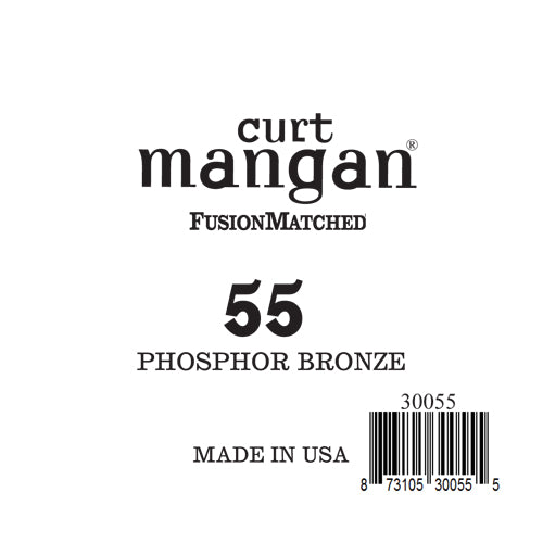 Curt Mangan 55 Phosphor Bronze Single String