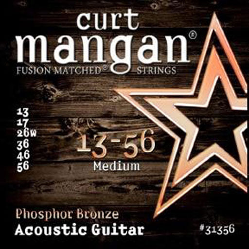 Curt Mangan 13-56 PhosPhor Bronze Medium Acoustic Guitar Strings - Dynamic Music Distribution