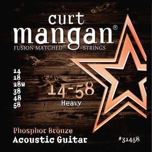 Curt Mangan 14-58 PhosPhor Bronze Heavy Set (Acoustic Guitar) - Guitar Gear Pro