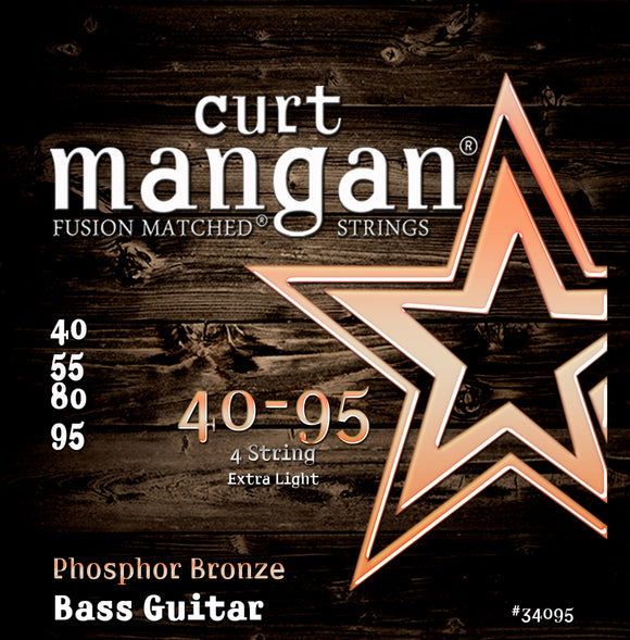 Curt Mangan 40-95 Phosphor Bronze Bass Set Bass Guitar Strings - Dynamic Music Distribution