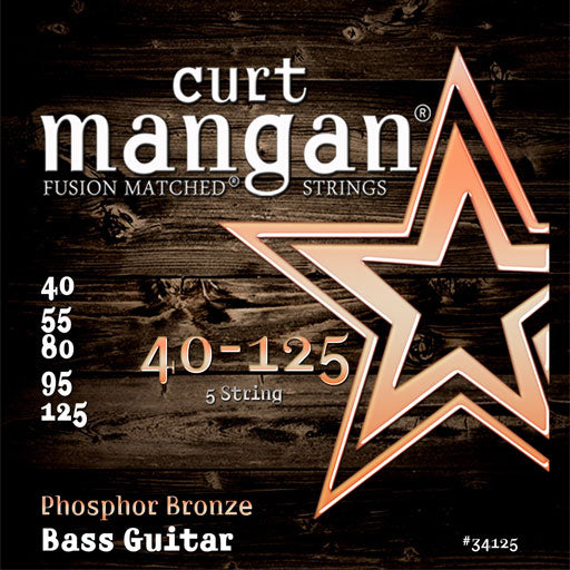 Curt Mangan 40-125 Phosphor Bronze Bass 5-String Set (Acoustic Bass Guitar) - Dynamic Music Distribution