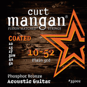 Curt Mangan 10-52 Phosphor COATED Acoustic Guitar Strings - Dynamic Music Distribution