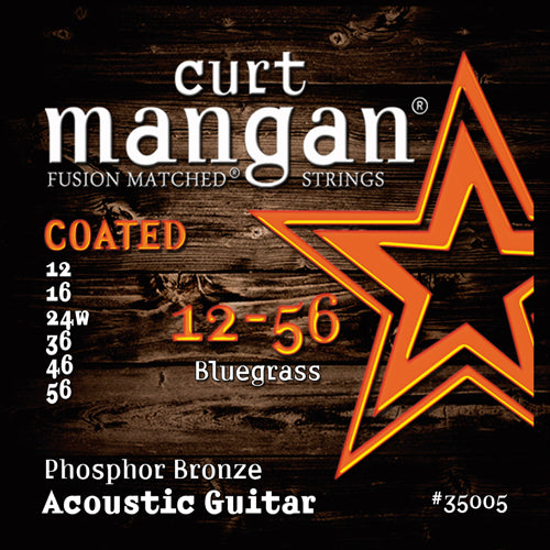 Curt Mangan 12-56 Bluegrass Phosphor COATED Acoustic Guitar Strings - Dynamic Music Distribution