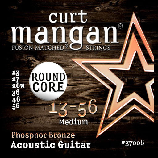 Curt Mangan 13-56 PhosPhor Bronze Round Core Acoustic Guitar Strings - Guitar Gear Pro