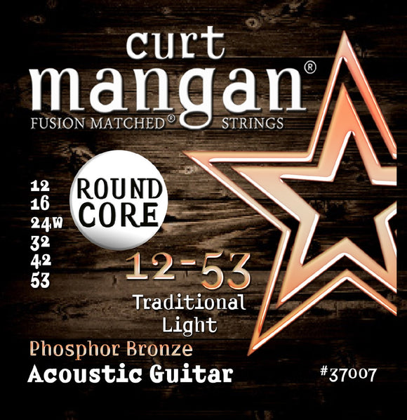 Curt Mangan 12-53 PhosPhor Bronze Round Core Acoustic Guitar Strings - Dynamic Music Distribution