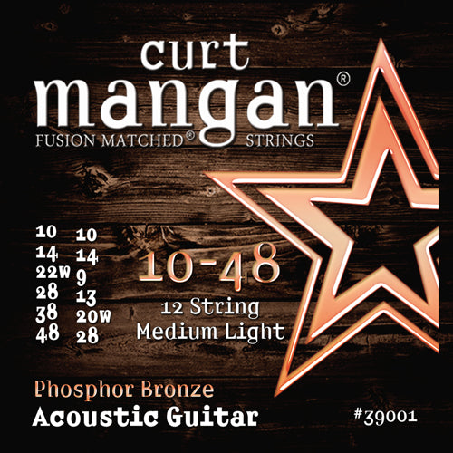 Curt Mangan 10-48 Phosphor Bronze 12-String Acoustic Guitar Strings - Dynamic Music Distribution