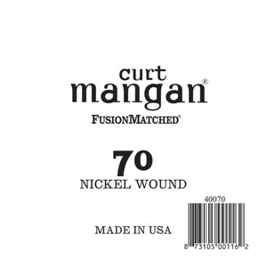 Curt Mangan 70 Nickel Wound Bass Single Bass Guitar String - Dynamic Music Distribution