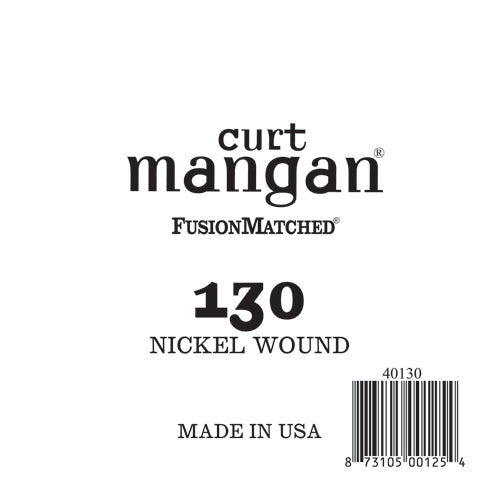 Curt Mangan 130 Nickel Wound Bass Single String - Dynamic Music Distribution