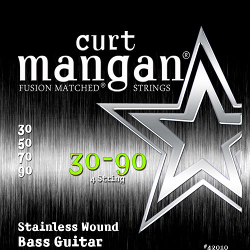 Curt Mangan 30-90 Stainless Steel Bass Guitar Strings - Dynamic Music Distribution