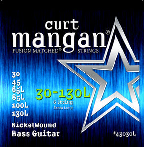 Curt Mangan 30-130 Nickel Bass Set Extra Long Bass Guitar Strings - Guitar Gear Pro