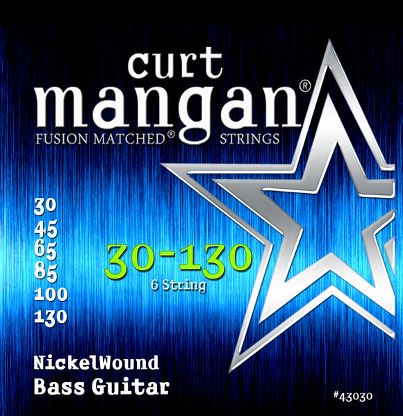Curt Mangan 30-130 Nickel Wound 6-String Bass Guitar Strings - Dynamic Music Distribution
