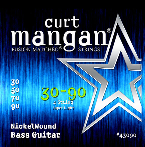 Curt Mangan 30-90 Nickel Bass Guitar Strings - Guitar Gear Pro