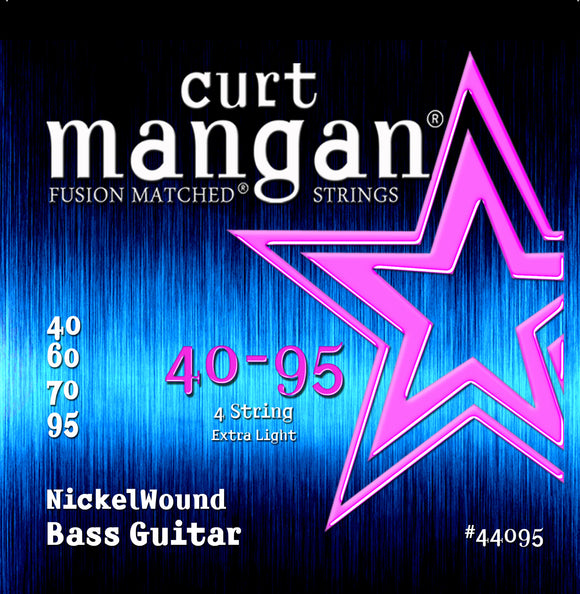 Curt Mangan 40-95 Nickel Wound Extra Light Bass Guitar Strings - Guitar Gear Pro
