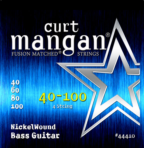 Curt Mangan 40-100 Nickel Wound Bass Guitar Strings - Guitar Gear Pro