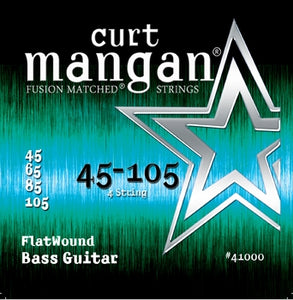 Curt Mangan 45-105 Flatwound Bass Guitar Strings - Dynamic Music Distribution