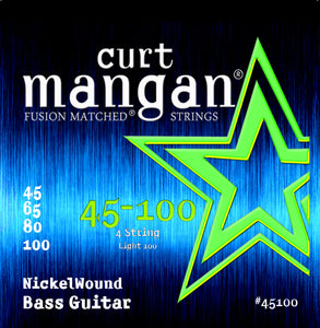 Curt Mangan 45-100 Nickel Wound Light 100 Set Bass Guitar Strings - Dynamic Music Distribution