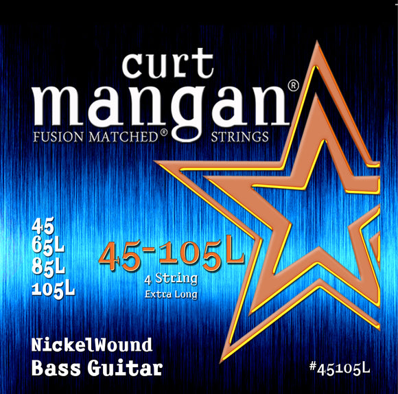 Curt Mangan 45-105 Nickel Bass Extra Long Bass Guitar Strings - Dynamic Music Distribution