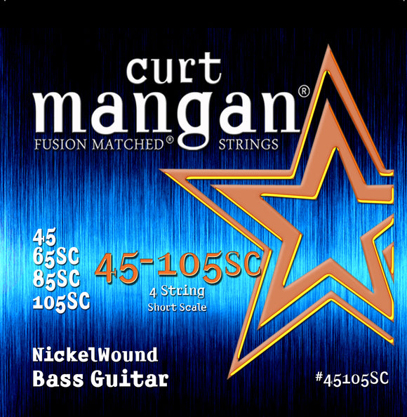 Curt Mangan 45-105 Nickel Bass Short Scale Bass Guitar Strings - Dynamic Music Distribution