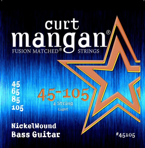 Curt Mangan 45-105 Nickel Wound Light Bass Guitar Strings - Dynamic Music Distribution