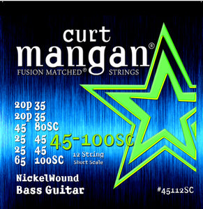 Curt Mangan 45-100 12-String Short Scale Bass Guitar Strings - Dynamic Music Distribution