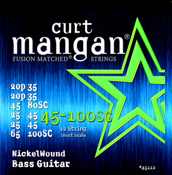 Curt Mangan 45-100 12-String Bass Bass Guitar Strings - Dynamic Music Distribution