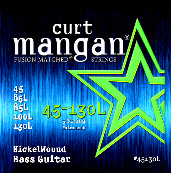 Curt Mangan 45-130 Nickel Bass Set Extra Long Bass Guitar Strings - Dynamic Music Distribution