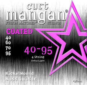 Curt Mangan 40-95 Nickel Bass Extra Light COATED Bass Guitar Strings - Dynamic Music Distribution