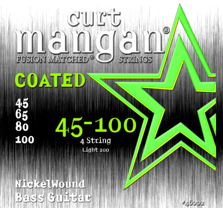 Curt Mangan 45-100 Nickel Bass Light 100 COATED Bass Guitar Strings