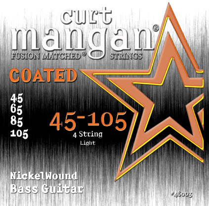 Curt Mangan 45-105 Nickel Bass Light COATED Bass Guitar Strings - Dynamic Music Distribution