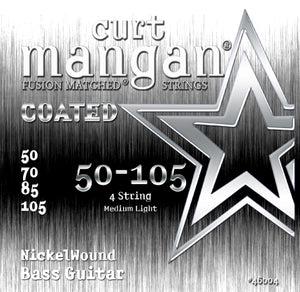 Curt Mangan 50-105 Nickel Bass Light Set COATED Bass Guitar Strings - Dynamic Music Distribution