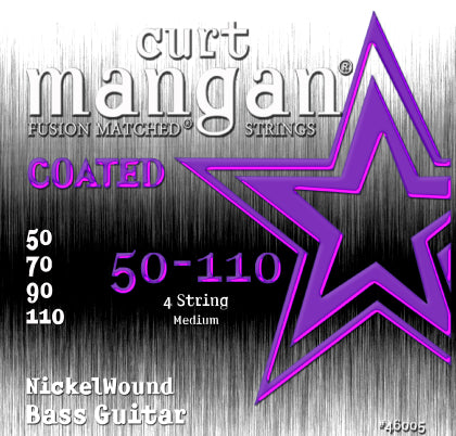 Curt Mangan 50-110 Nickel Bass Medium COATED Bass Guitar Strings - Dynamic Music Distribution