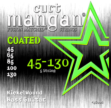 Curt Mangan 45-130 Nickel Bass 5-String COATED Bass Guitar Strings - Dynamic Music Distribution