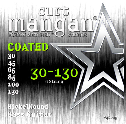 Curt Mangan 30-130 Nickel Bass 6-String COATED Bass Guitar Strings - Dynamic Music Distribution