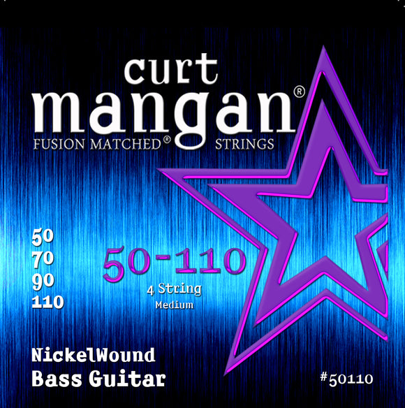 Curt Mangan 50-110 Nickel Wound Medium Bass Set Bass Guitar Strings - Dynamic Music Distribution