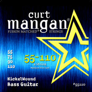 Curt Mangan 55-110 Nickel Wound Medium Plus Set Bass Guitar Strings - Dynamic Music Distribution