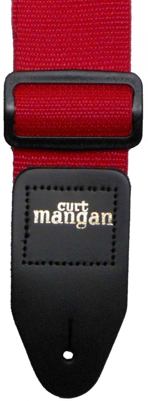 Curt Mangan Red Poly Strap - Dynamic Music Distribution