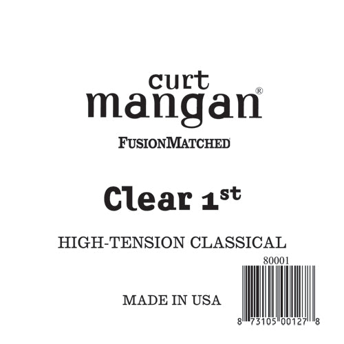 Curt Mangan Clear 1st High-Tension Classic Single String - Dynamic Music Distribution