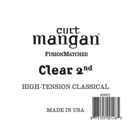 Curt Mangan Clear 2nd High-Tension Classic Single String - Dynamic Music Distribution