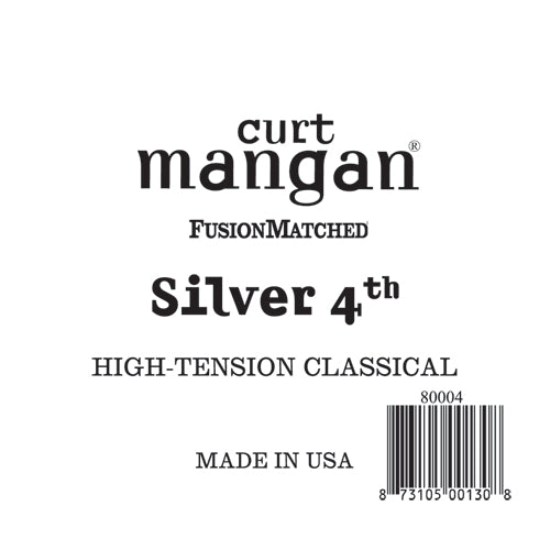 Curt Mangan Silver 4th High-Tension Classic Single String - Dynamic Music Distribution