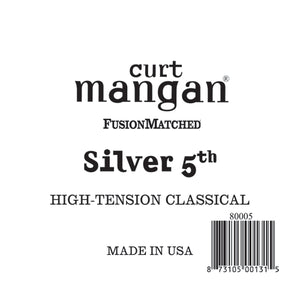 Curt Mangan Silver 5th High-Tension Classic Single String - Dynamic Music Distribution